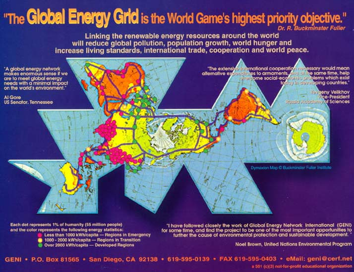 connected grid map